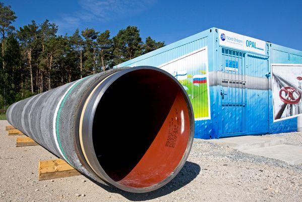 Rohr für die Erdgasleitung Lubmin - Russland