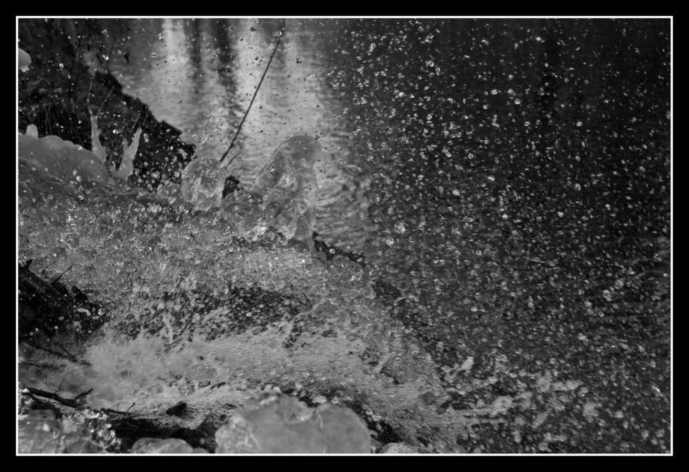 Rohrbruch durch Eis