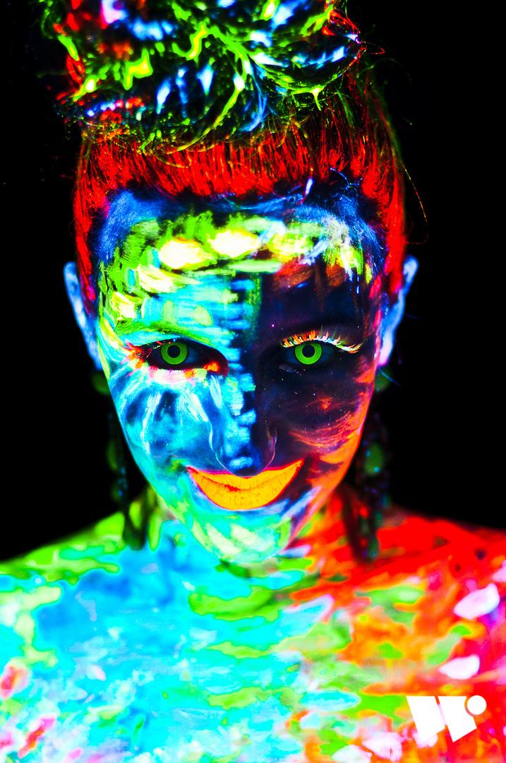 Rojin Blacklight Portrait