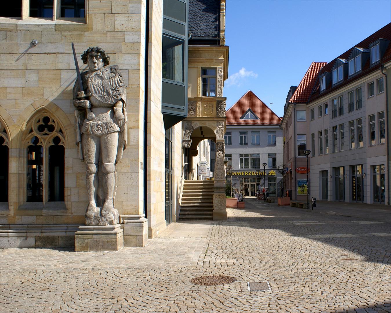 Roland am Rathaus zu Halberstadt