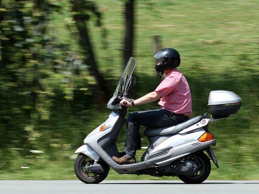 Rollerfahrer