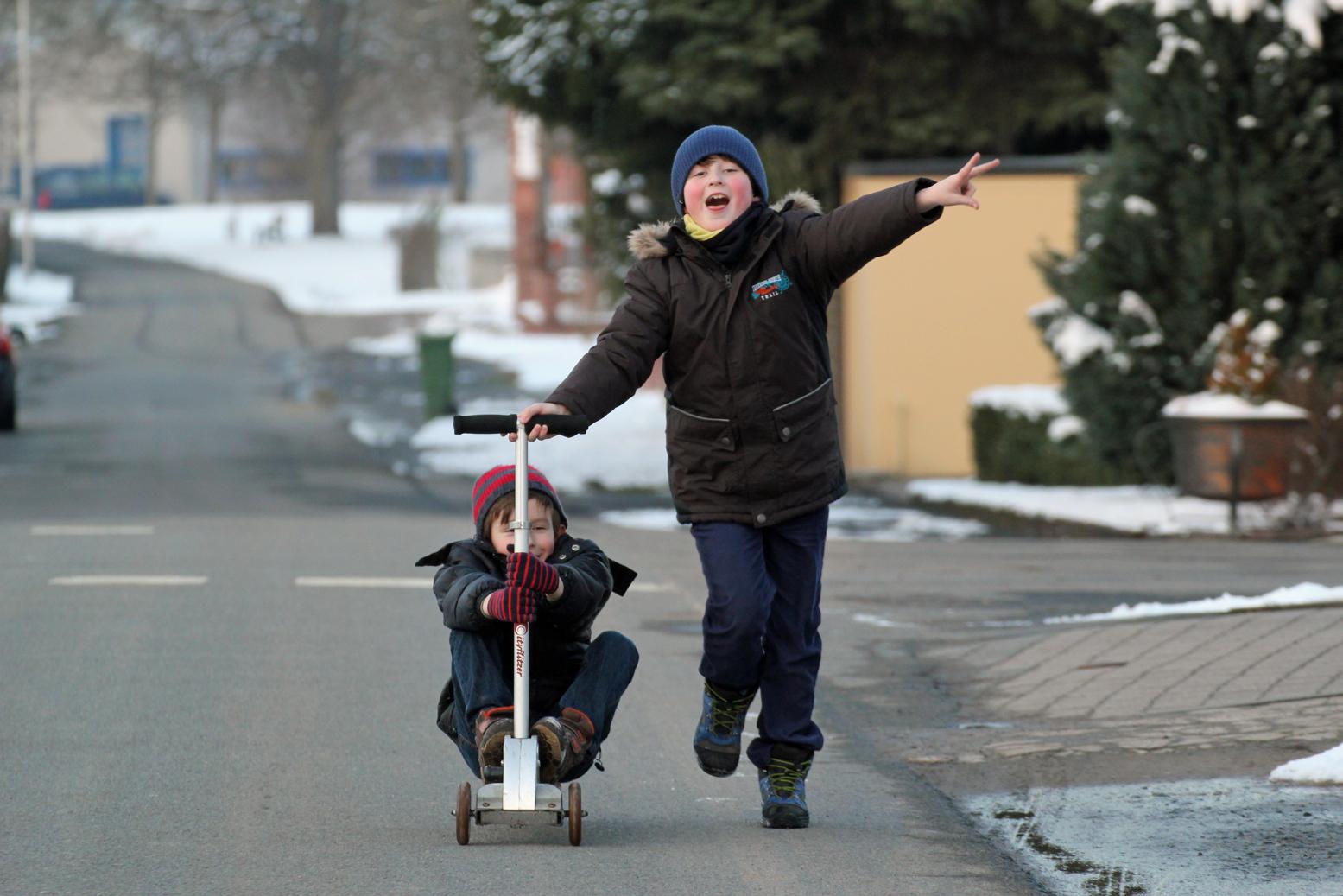 Rollerspaß im Winter