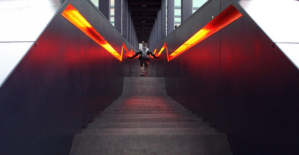 Rolltreppe abwärts