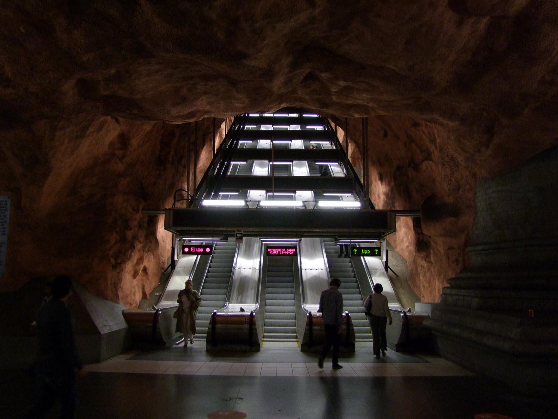 Rolltreppe aus der Tiefe