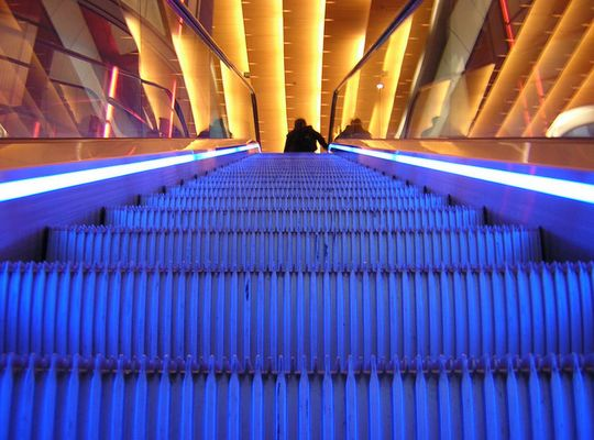 Rolltreppe mal anders