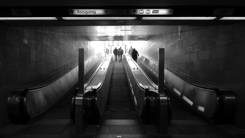 Rolltreppe ohne Roll und Treppe