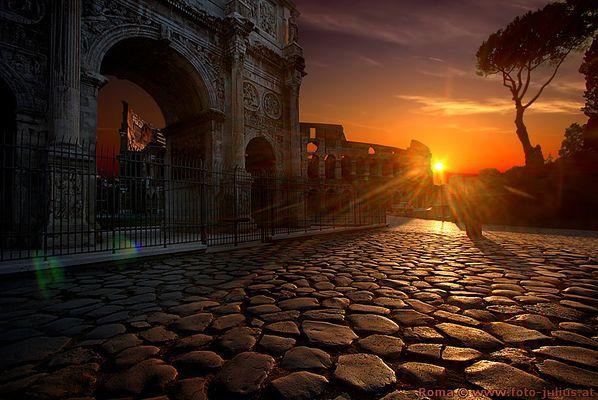 Rom - Colosseum - Konstantinbogen