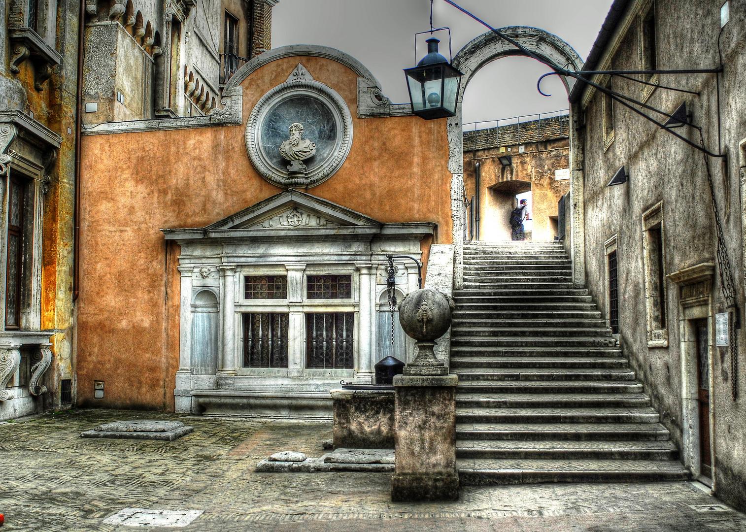 Rom, Engelsburg, Castel sant' Angelo, Mausoleum di Adriano (Zugang zum Appartamento del Castellano