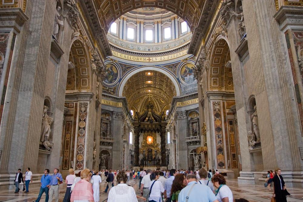 rom petersdom innen foto bild europe italy vatican city s marino vatican bilder auf. Black Bedroom Furniture Sets. Home Design Ideas