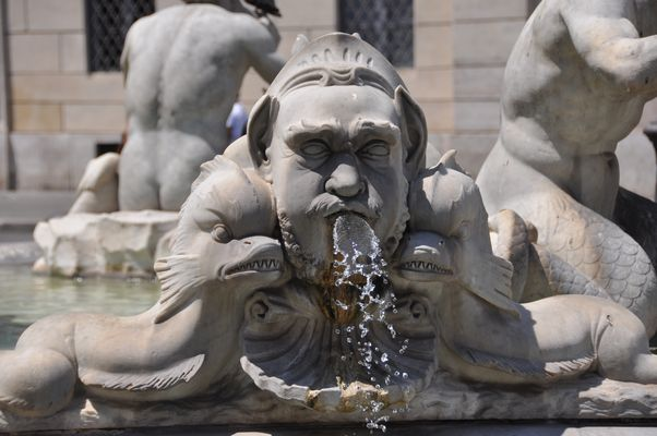Rom Piazza navona - Brunnenfigur des Fontana del Moro