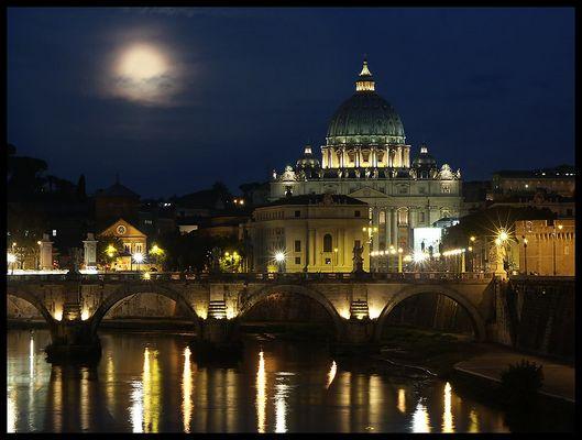 Rom / Tiber / Petersdom - nachts