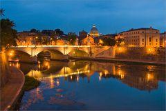 Rom - Tieber mit Petersdom