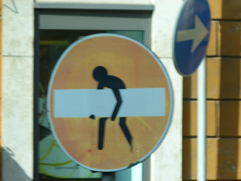 Rom Verkehrsschild mal anders