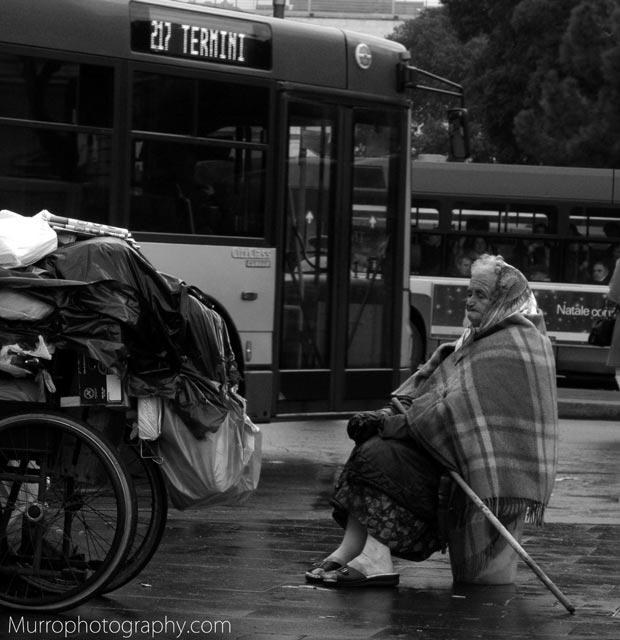 Roma, povertà. 2008