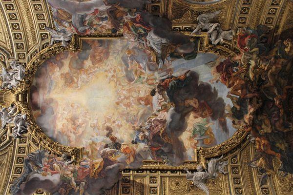 Roma - Trionfo del nome di Gesù ( volta della Chiesa del Gesù )