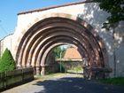 Romanischer Torbogen zum Kloster Altzella bei Nossen in Sachsen