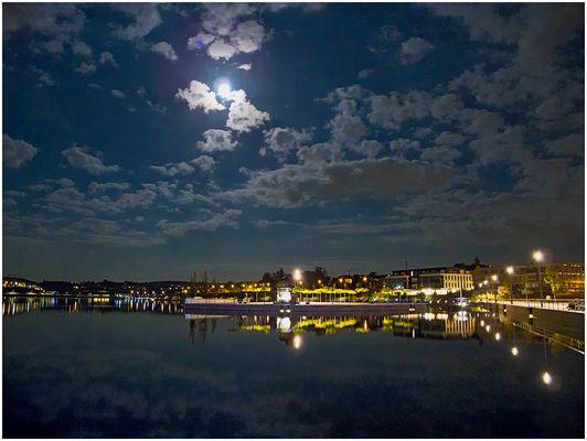 romantisch mit Mond