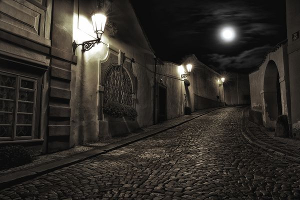 Romantische gassen von Prag