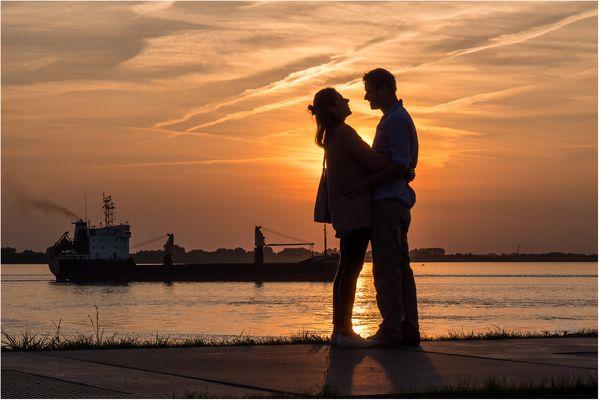 romantische Liebe in Bremerhaven...