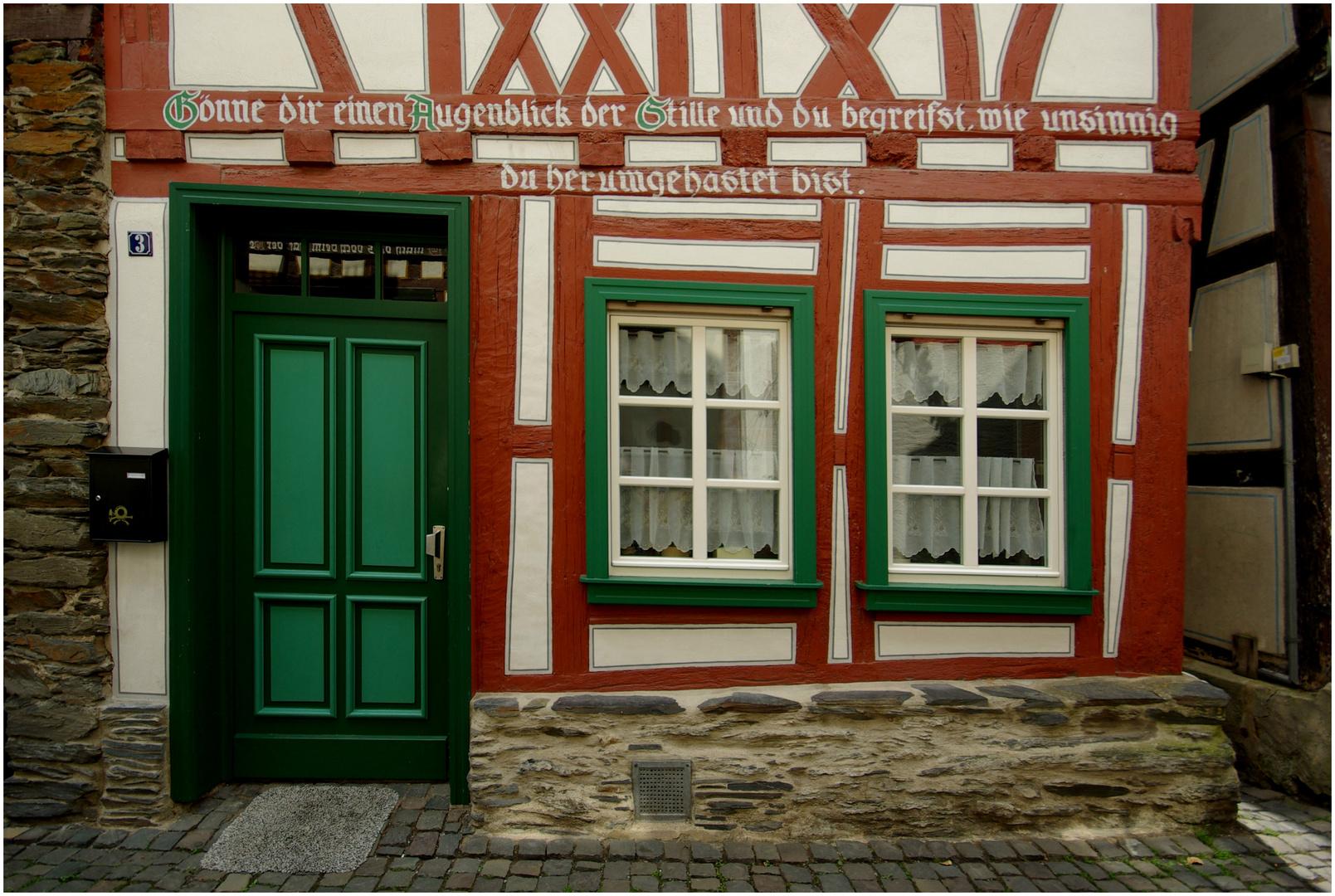 Romantischer Winkel in Bacharach / Rhein