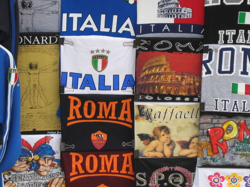 rome and it's world of T-shirts