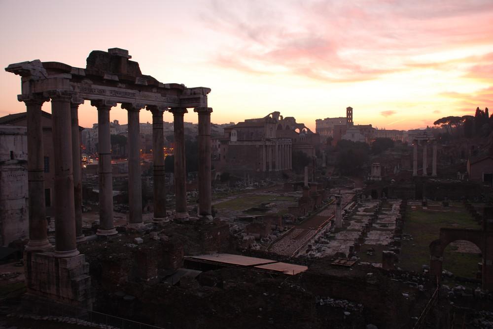 Rome au lever du jour