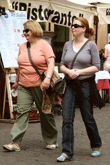 rome fashion: amerikanische touristen