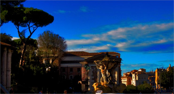 rome - late afternoon sun
