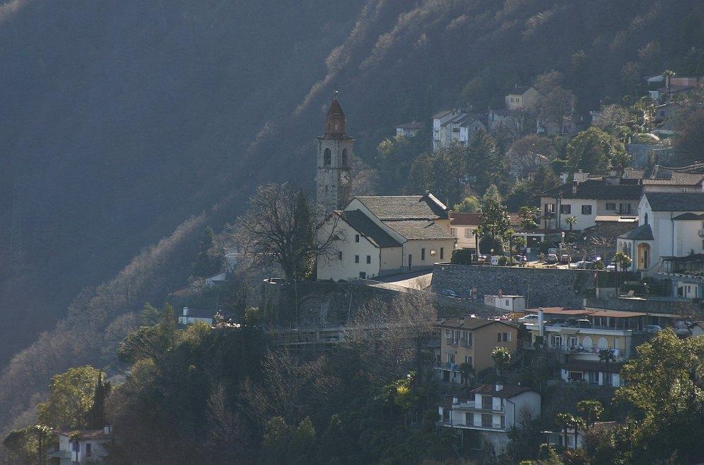 Ronco sopra Ascona im Abendlicht