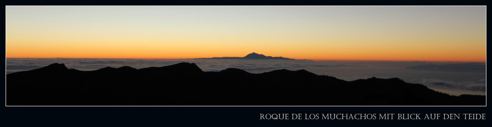 Roque de los Muchachos – Blick auf den Teide