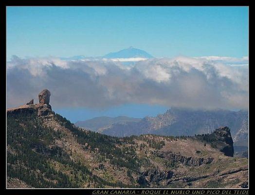 Roque El Nublo und Pico del Teide