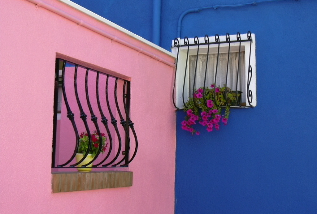 rosa e azzurro di Burano