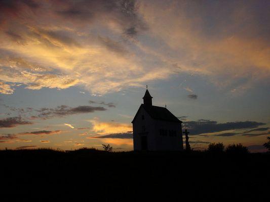 Rosaliakapelle bei Sonnenuntergang