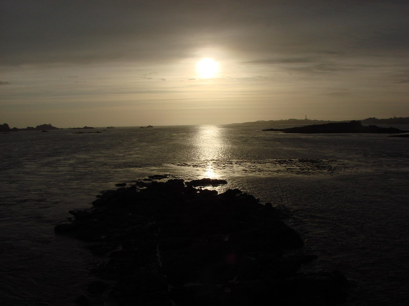 Roscoff end of the day the sea silver...