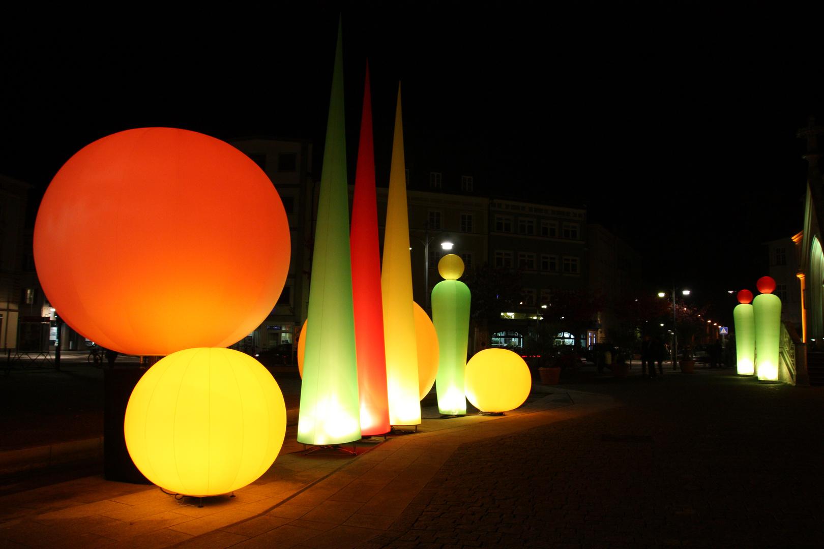 Rosenheimer Stadtbeleuchtung am 04.10.13