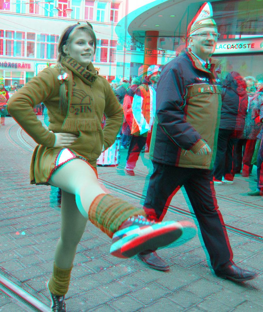 Rosenmontag HALLE/S 2013 (3D-Foto Nr. 03)
