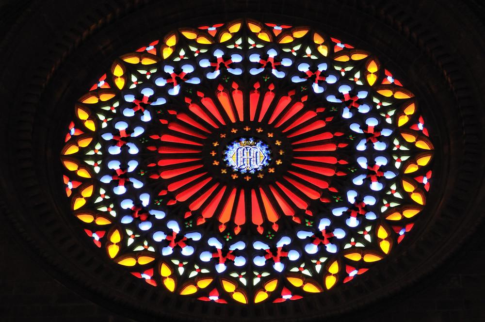 Rosette an der Kathedrale von Palma