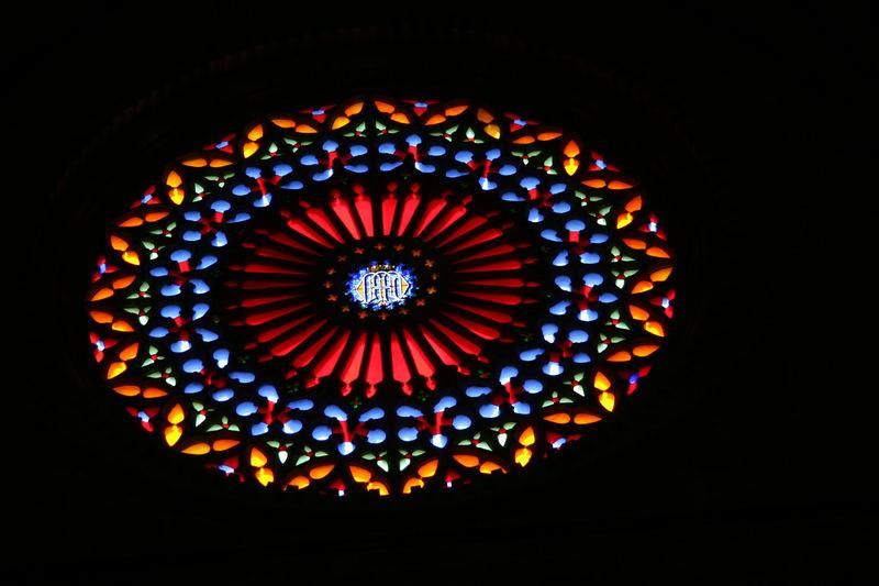 Rosette in der Kathedrale von Palma de Mallorca