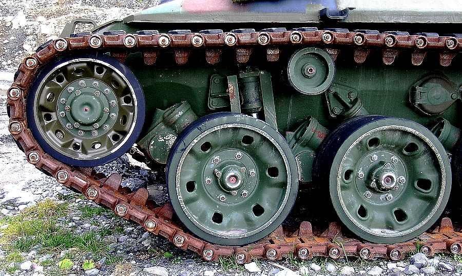 Rost an Panzerketten