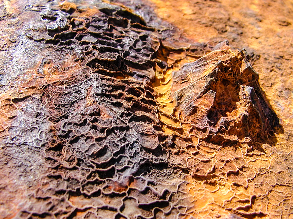 Rost auf Eisenrohr