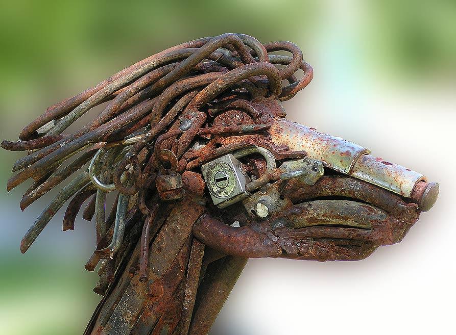Rost-Skulptur
