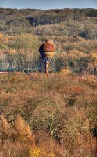 """Rostiger """"Pilz"""" in der Herbstlandschaft"""