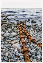 Rostiges Eisen am Meer