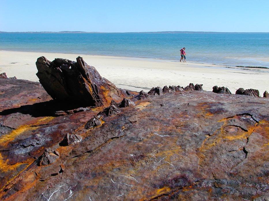 Rostiges Eisenrohr auf Fraser Island