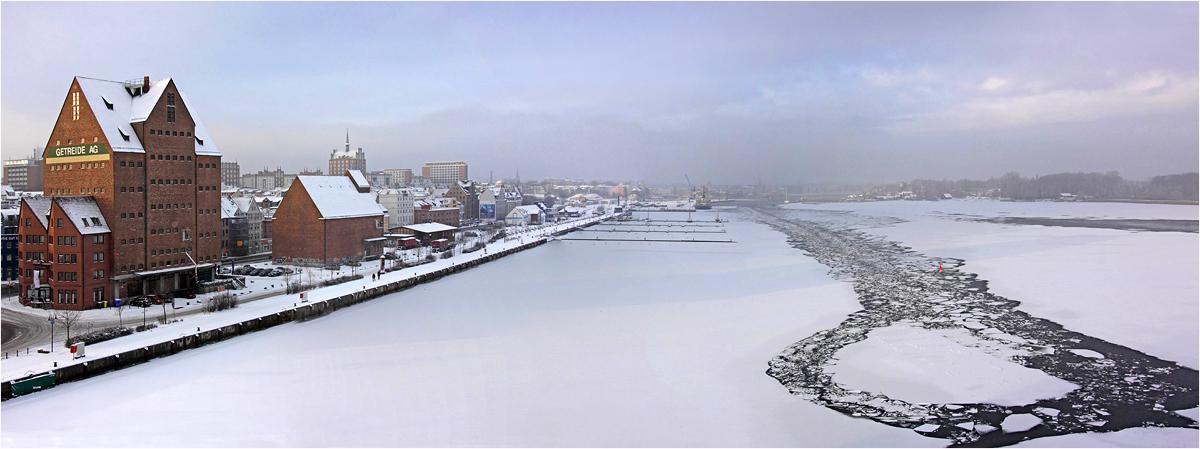 Rostock im Winter