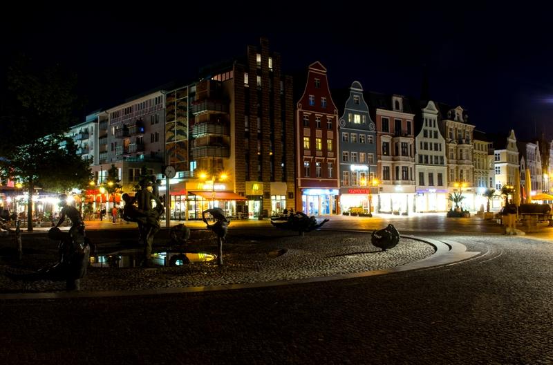 Rostock Innenstadt bei Nacht