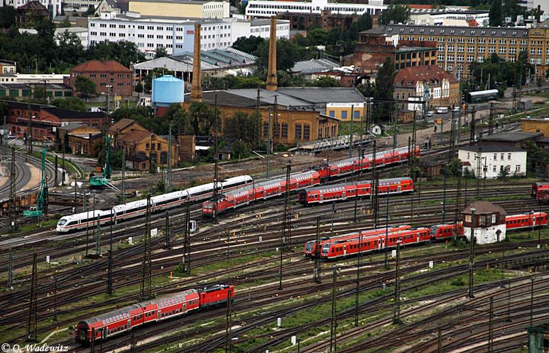 Rot bestimmt die Farbe in Leipzig