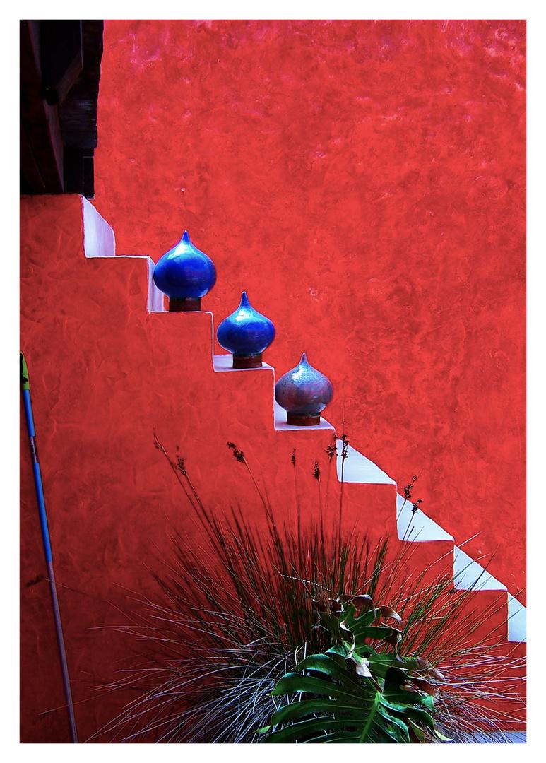 rot blau