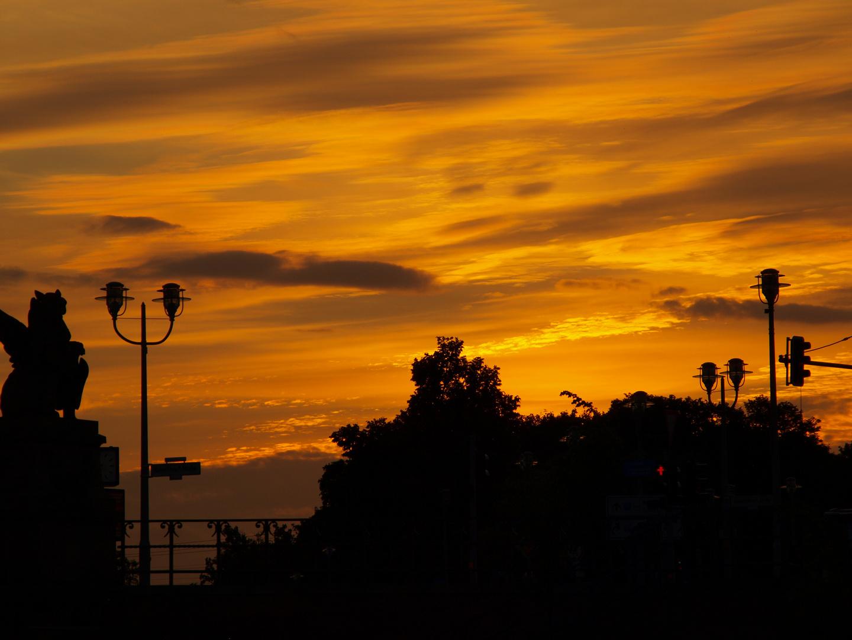 Rot für den Sonnenuntergang, er soll warten, so bleiben...