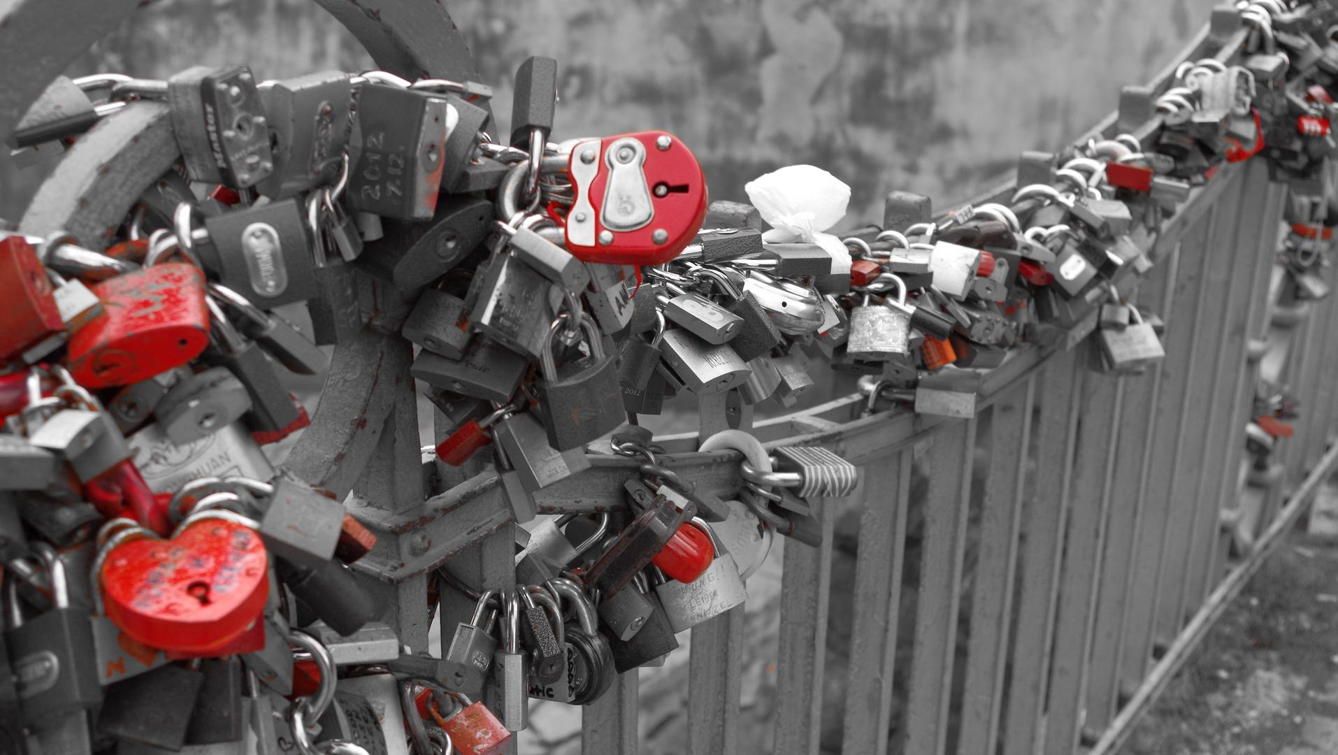 Rot für die Liebe